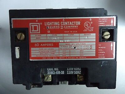 Nice Square D 8903 SPG2 Lighting Contactor 60 Amp 110/120 V 8903SPG2