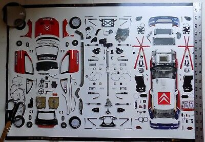 Citroen Wrc  2005 Xsara Poster Car In Parts On Back Was A Dealership Item Rare!