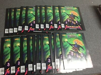 Metallica Megadeth magazine size Rock n Roll comic book lot 20 copies 1990