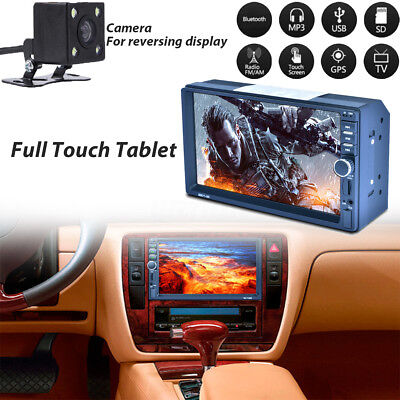 7'' HD 2DIN Touch Auto Car MP5 Player Bluetooth Stereo FM Radio USB/TF + Camera