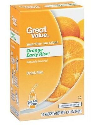 2 Boxes Of Great Value Orange Early Rise ~ On The Go Drink Mix Water Enhancer