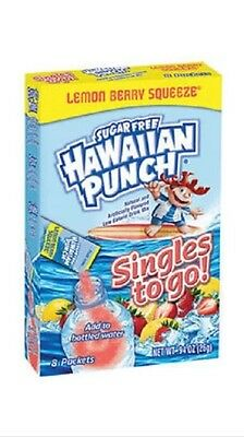 Hawaiian Punch Lemon Berry Squeeze Singles to Go Sugar Free Drink Mix