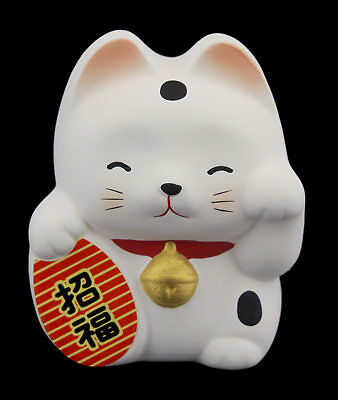 Tirelire Baby chat japonais blanc 7cm ceramique Made in Japan Maneki Neko 40649