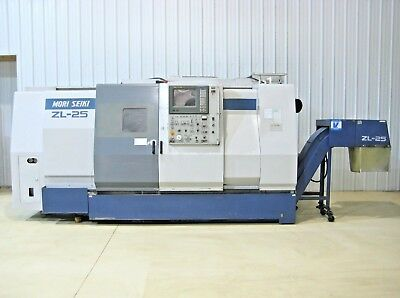"MORI SEIKI ZL-25 B/1000 4-Axis CNC Turning Center Lathe, Fanuc 45"" Centers Chuck"
