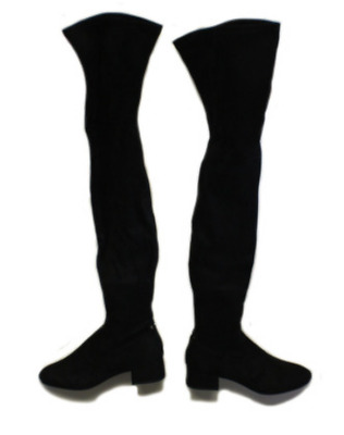 c666fe33023 Dolce Vita Jimmy Black Stella Suede Over-The-Knee Boots Womens Shoes - Size