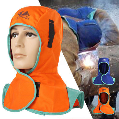 Flame Retardant Safety Helmet Welding Neck Protective Hood Welder Head Cap Cover