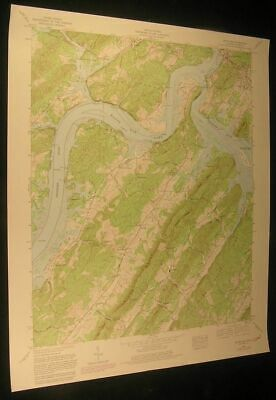 Bacon Gap Tennessee Kingston Clinch R. 1981 vintage USGS original Topo chart map