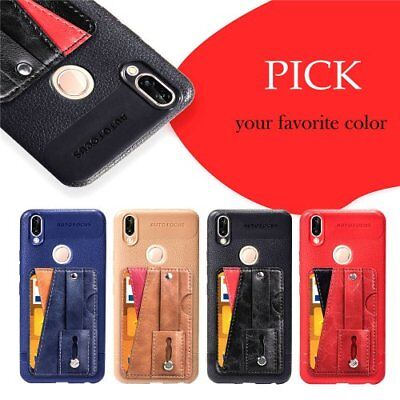 Fr Huawei TPU Card holder kickstand cover thin phone case slim shockprood rubber