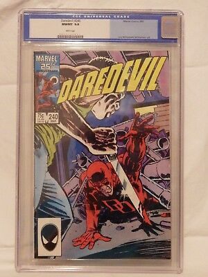 Marvel Daredevil - Volume 1 - Issue 240  Cgc 9.8 - The Face You Deserve