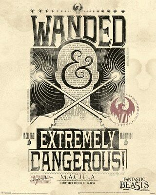 Mini Poster Fantastic Beasts Extremely Dangerous 40 x 50 cm