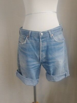 "Vintage 1980's Levi's 501 Jean Shorts. Distressed, faded cut-offs, 34"" waist (3)"