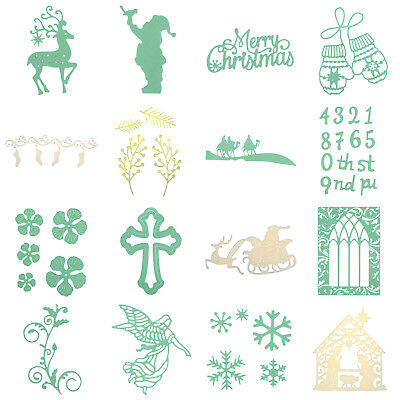 Merry Christmas Cutting Dies Stencils DIY Scrapbook Photo Album Card Home Decor