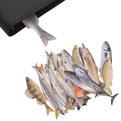 30 Pcs Salted Fish Bookmark Papercraft Gifts School Stationery Accessory Novelty