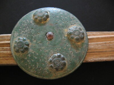 Cosmic Disc 4 Stars All-Seeing Eye Ancient Celtic Bronze Talisman 500-300 B.c.