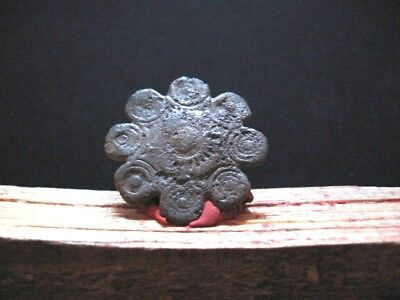 Sun Disc Talisman Ancient Celtic Billon Silver Solar Amulet 300-100 B.c.