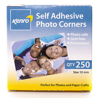 Kenro Sticky Photo Picture Mounting Corners Pack of 250 Acid Free - PC101