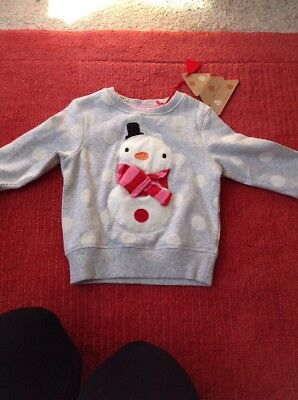 Girls Snowman Jumper From Next 1.5-2years NWT    CHRISTMAS
