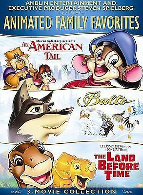 3 Movie Collection: An American Tale / Balto / The Land Before TIme [DVD] NEW!