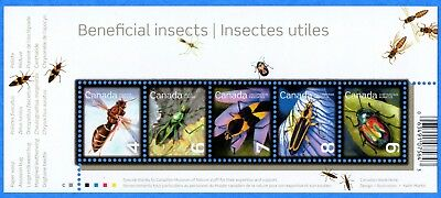 2010 Canada #2410a Beneficial Insects Souvenir Stamp Sheet Mint-NH