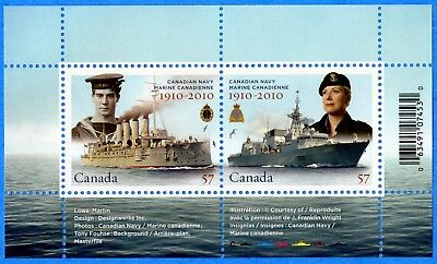 2010 Canada #2384 Canadian Navy Centennial Souvenir Stamp Sheet Mint-NH