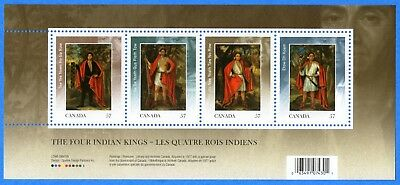 2010 Canada #2383b The Four Indian Kings Souvenir Stamp Sheet Mint-NH
