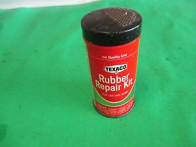 vintage Texaco Rubber Repair Kit tin can