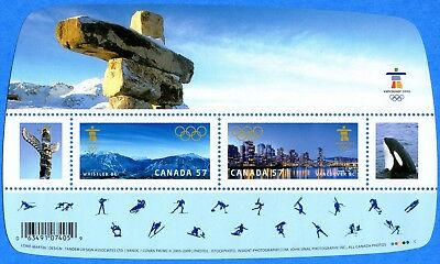 2010 Canada #2366 Vancouver Olympic Winter Games Souvenir Stamp Sheet Mint-NH