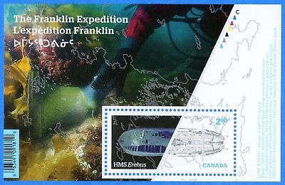 2015 Canada #2853 The Franklin Expedition Souvenir Stamp Sheet Mint-NH