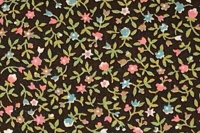 1 Yd Vintage Floral Daisy Tulips Cotton Quilt Fabric Yours Truly BTY Small Doll