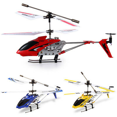 Syma S107G 3CH RC Helicopter Alloy Copter Built-in Gyroscope with LED Light RTF