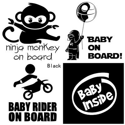 Baby On Board Car Sticker Darth Vader Biker Monkey Car Vinyl Decal Window UK