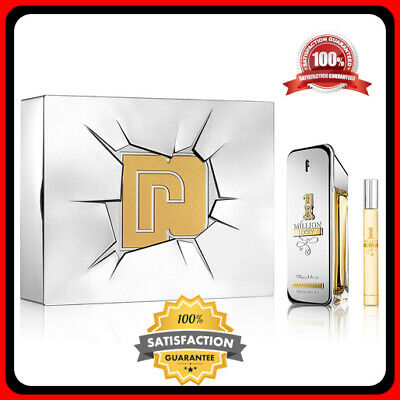 1 One Million Lucky Paco Rabanne EDT Spray for Men 3.4 oz..34 oz MINI 2 PC SET