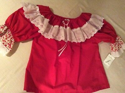 Red Square Dance Blouse