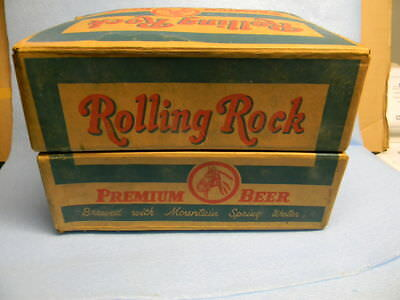 Vintage Rolling Rock Beer Bottle Crate Storage Box Latrobe Pennsylvania Horse