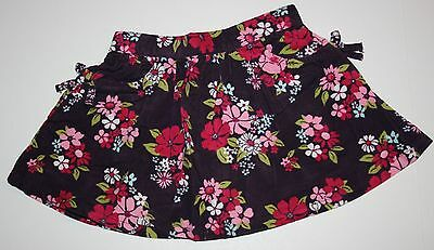 New Crazy 8 Gymboree Floral Corduroy Skirt Size 2T NWT Elastic Waist Pull On