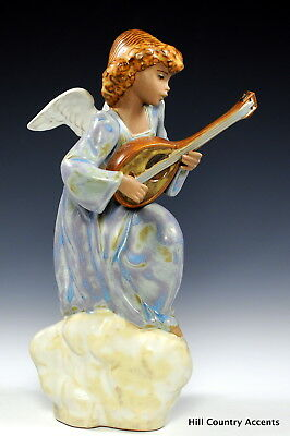 "Lladro Gres ""heavenly Song"" #12197 - Hand Signed - Angel Playing Lute - Mint"