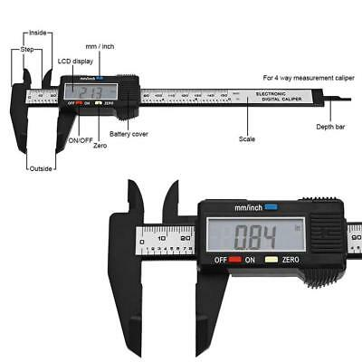 150mm LCD Digital Vernier Caliper Electronics Caliber Carbon Fiber Micrometer