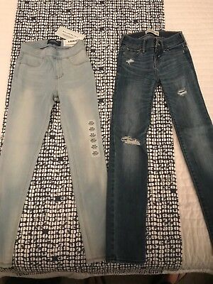 2 Pairs of Girls Skinny Jeans Size 8
