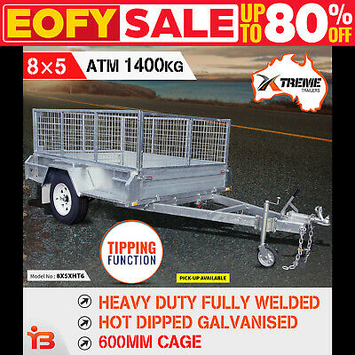 8x5 Extreme Heavy-Duty Full Welded Galvanised Box Trailer With 600mm Cage