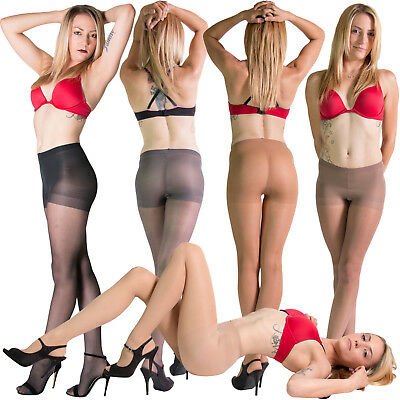 6 Pair Leggs Sheer Energy Pantyhose Reinforce Toe Control Top Slightly Imperfect