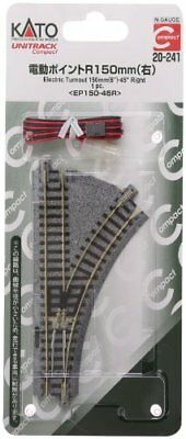 Kato N Scale 20-241 UNITRACK Compact Electric Turnout 150mm 45 Righ From japan
