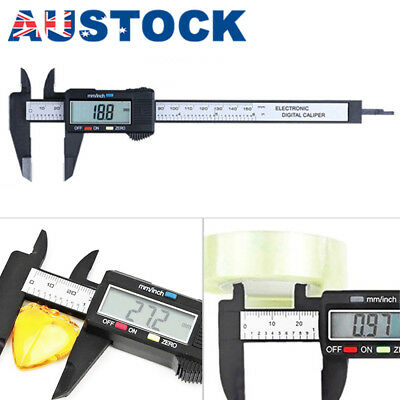 150mm 6inch Digital Electronic Carbon Fiber Vernier Caliper Gauge Micrometer