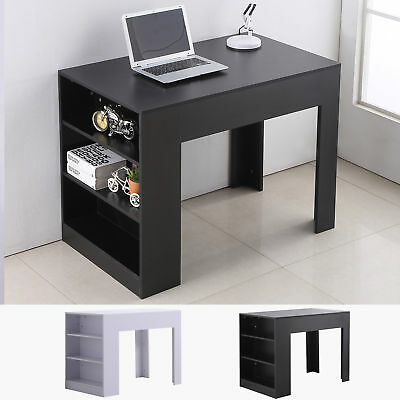 "40"" Computer Desk Office PC Laptop Study Writing Table w/ 3-tier Shelf Home"