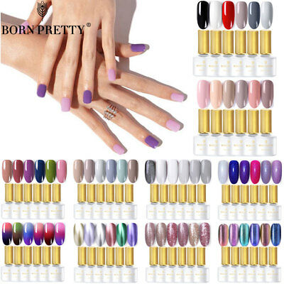 BORN PRETTY Nail Polish UV LED Gel  2-6 Colors Set Starter Kits Gift Box