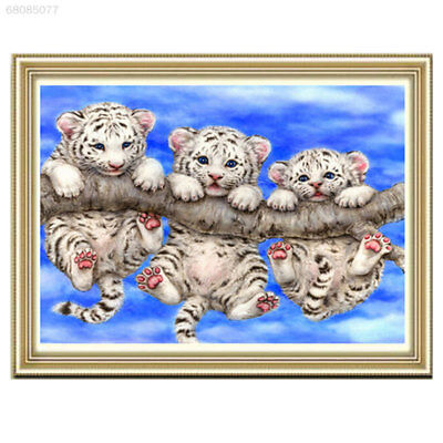 A53A 5D Tigers Diamond Rhinestones Painting Embroidery Cross Stitch Kits Mosaic
