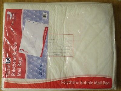 Owl Brand Polythene Bubble Envelope Mail Bags 10 Pack Jumbo 500mm x 650mm Large