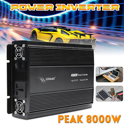 4000/8000W Peak Power Inverter Modificata Sine Wave 110V/220V  Auto Caravan