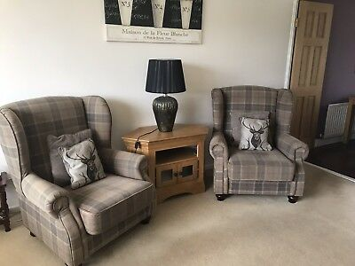 DFS Country Living Collection 2 Seater Sofa And  2 X Wing Back Chairs