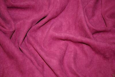 Faux Suede Suedette Fabric Material MAGENTA All Sizes Bulk Discounts