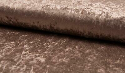 LUXURY Crushed Velvet Velour Fabric Material - DUSTY SALMON